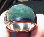 bloodstone inlay ring