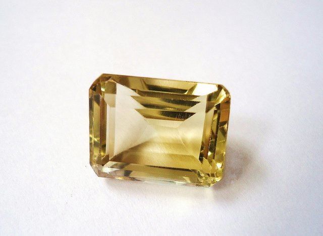 citrine - faceted stone