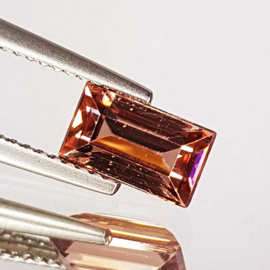 pink step-cut zircon