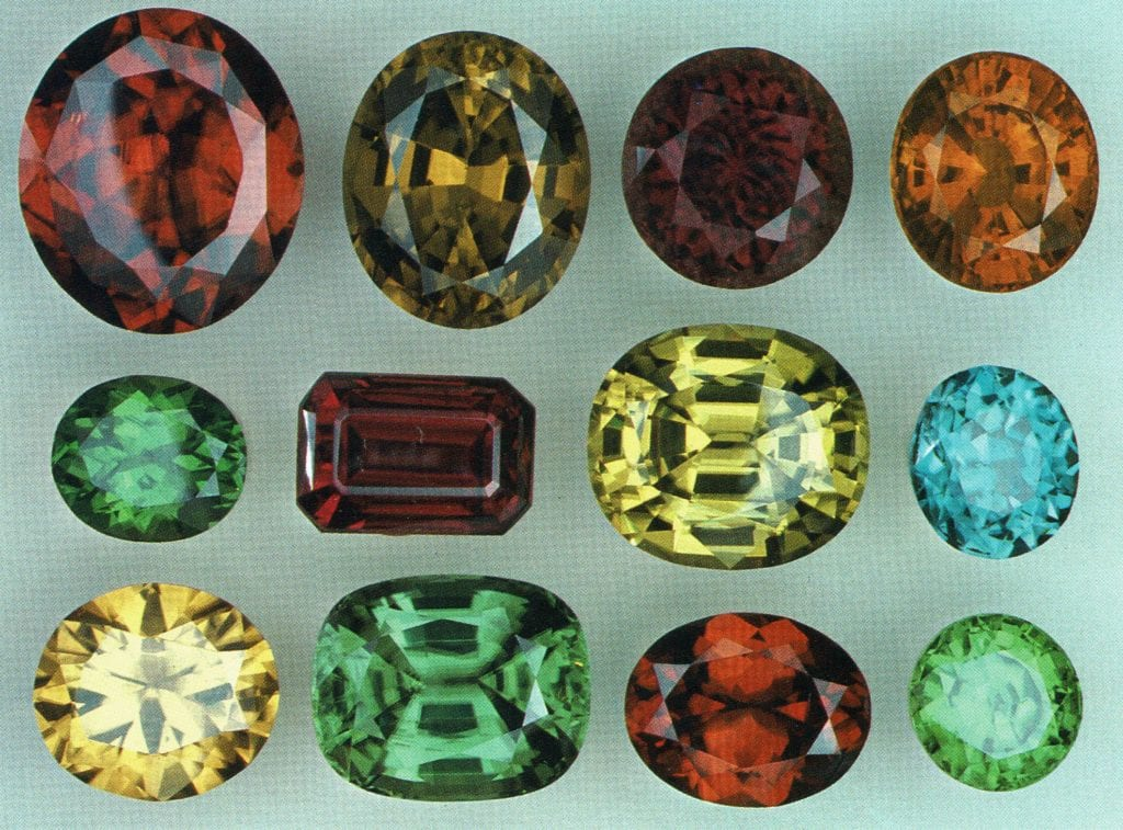 Faceted zircon gems 2 - Cambodia and Sri Lanka