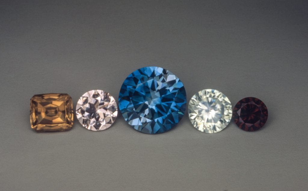 zircon gems - Australia and Cambodia