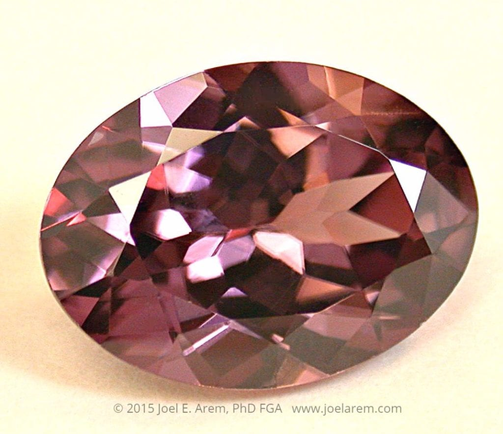 oval-cut pink zircon - Orissa, India