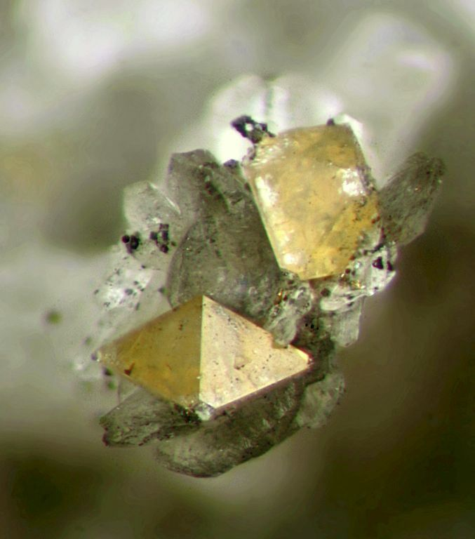 light yellow zircon crystals - jargoons