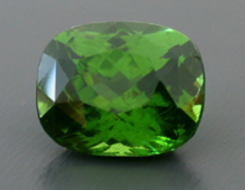 green zircon - cushion cut