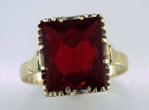 antique synthetic ruby