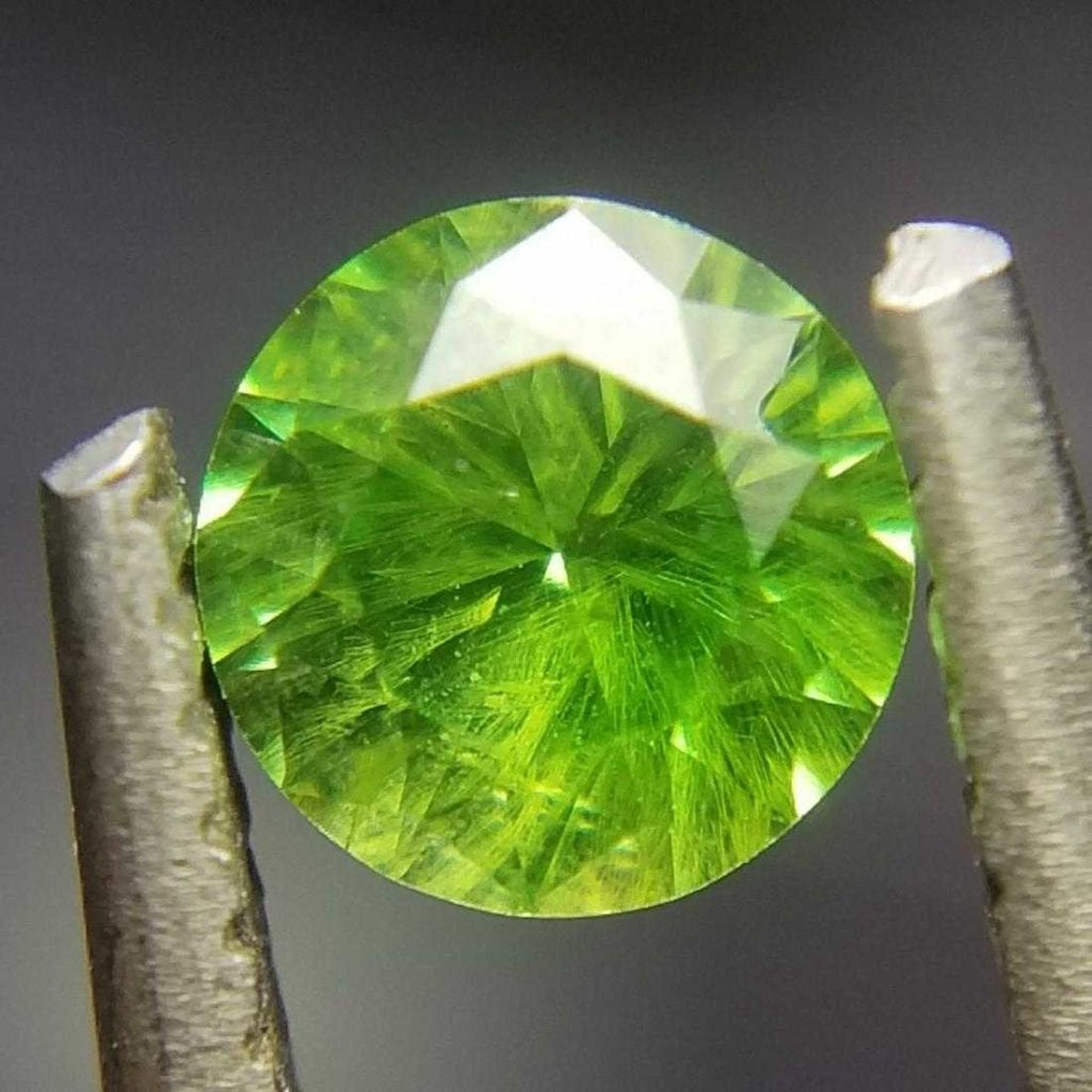 0.38-ct demantoid with horsetail inclusions - Russia