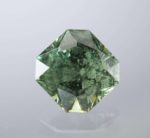 demantoid garnet - cushion cut, Madagascar