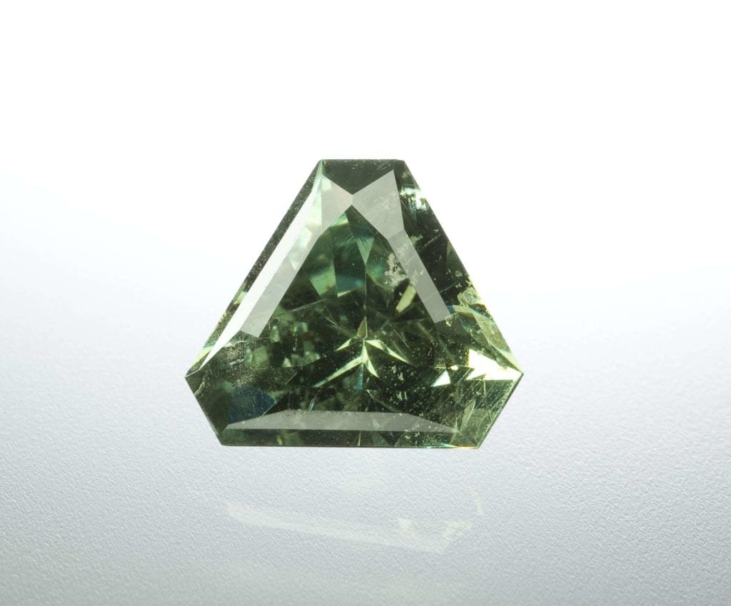 trilliant-cut demantoid - Madagascar