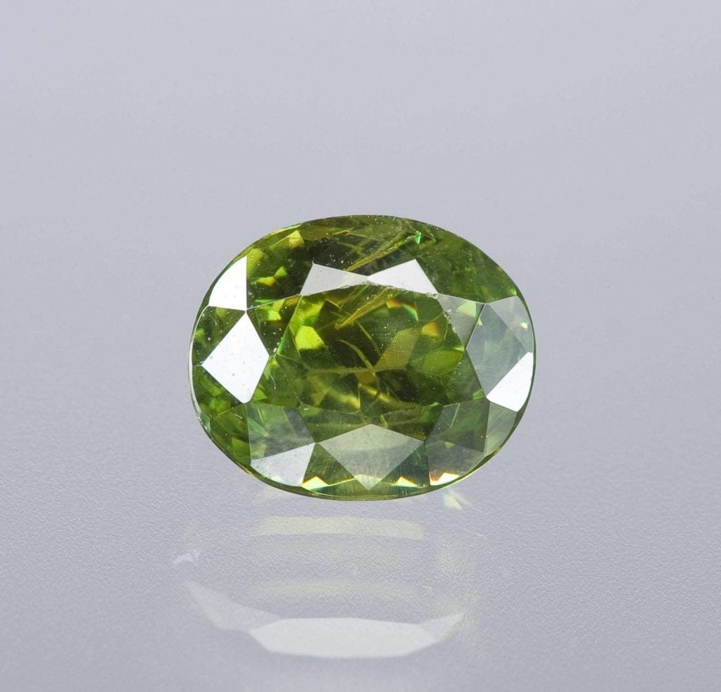 oval-cut demantoid - Russia