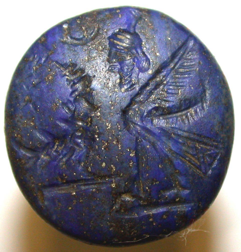 lapis lazuli seal - Mesopotamia