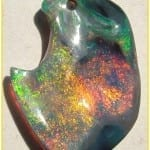 Carving Opals - Lightning Ridge Black Opal