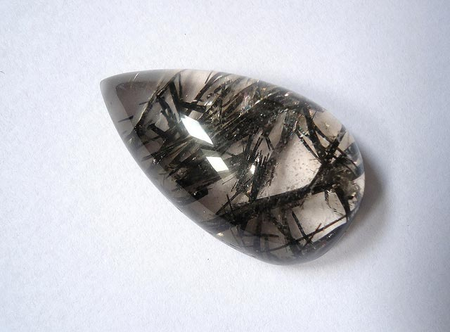 Rutilated quartz teardrop
