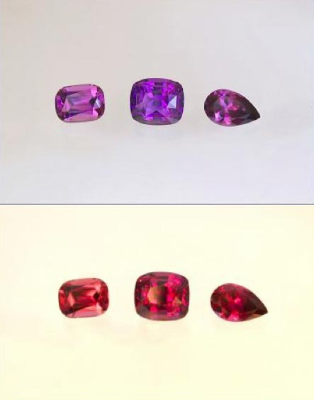 Color Change Garnet - Purple to Red