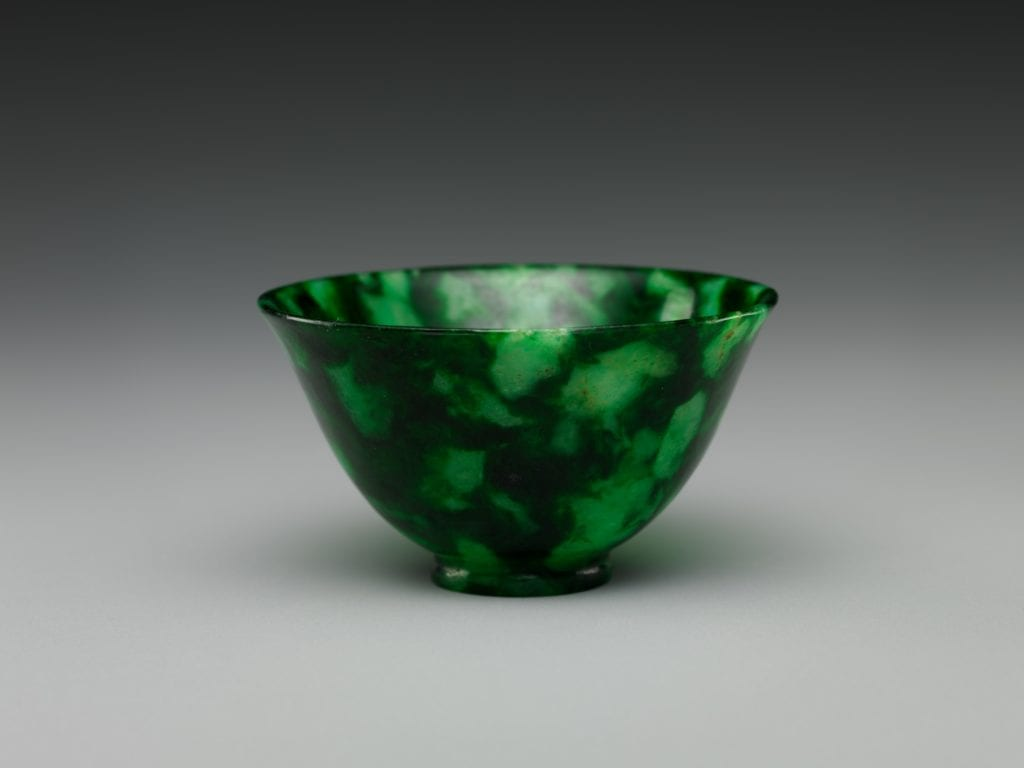 jadeite cup - China
