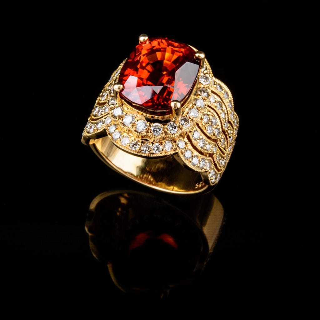 gemstone hardness - ruby ring