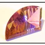 Ametrine fantasy gemstone cut