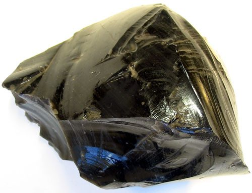 obsidian conchoidal fracture - gemstone cleavage