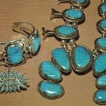 Turquoise in silver jewelry - Arizona and New Mexico