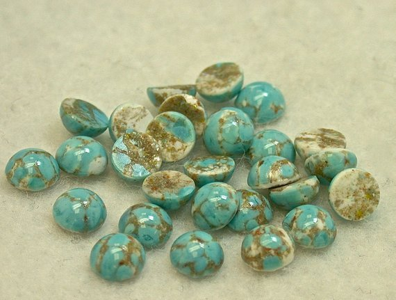 Czech glass beads - turquoise simulants