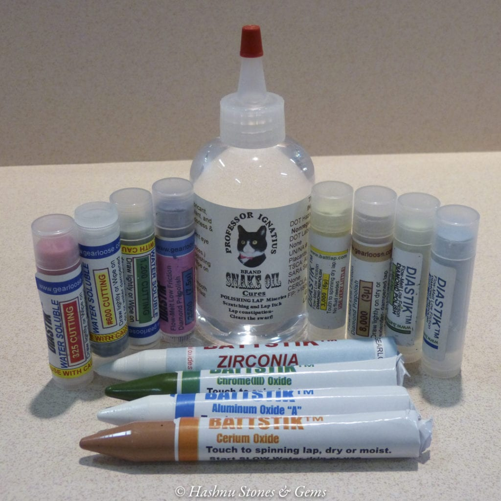 faceting equipment - Gearloose polishes
