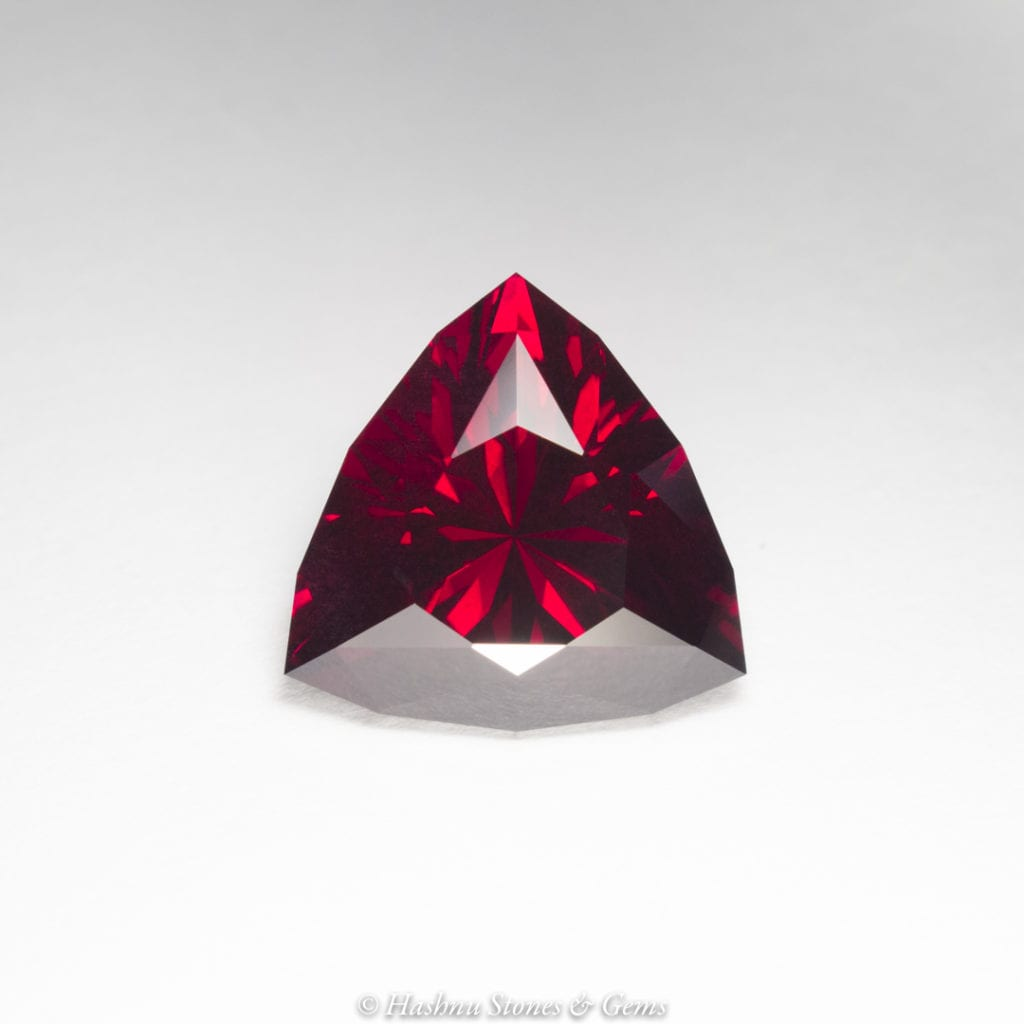 custom faceting - garnet