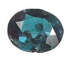 oval-cut alexandrite - daylight