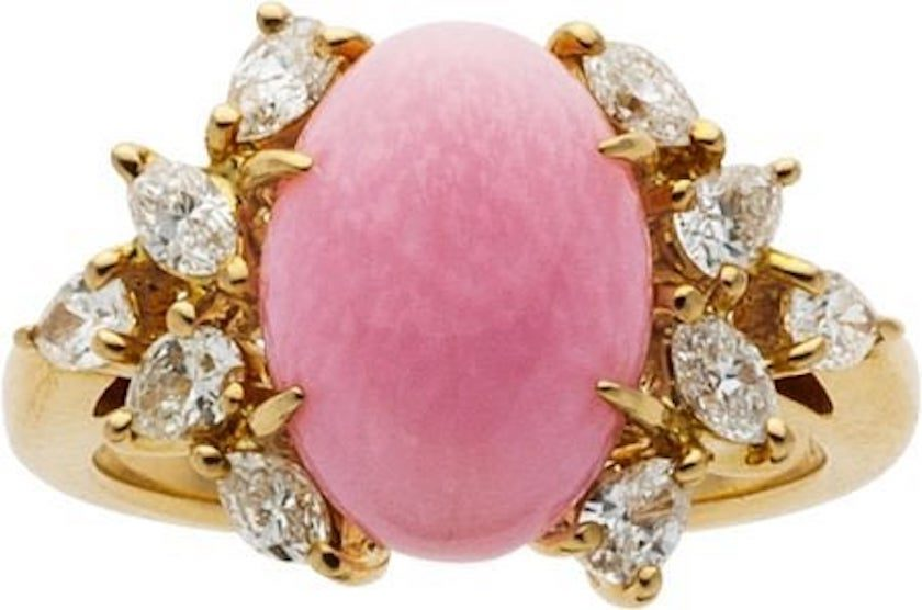 pink conch pearl ring - Mikimoto