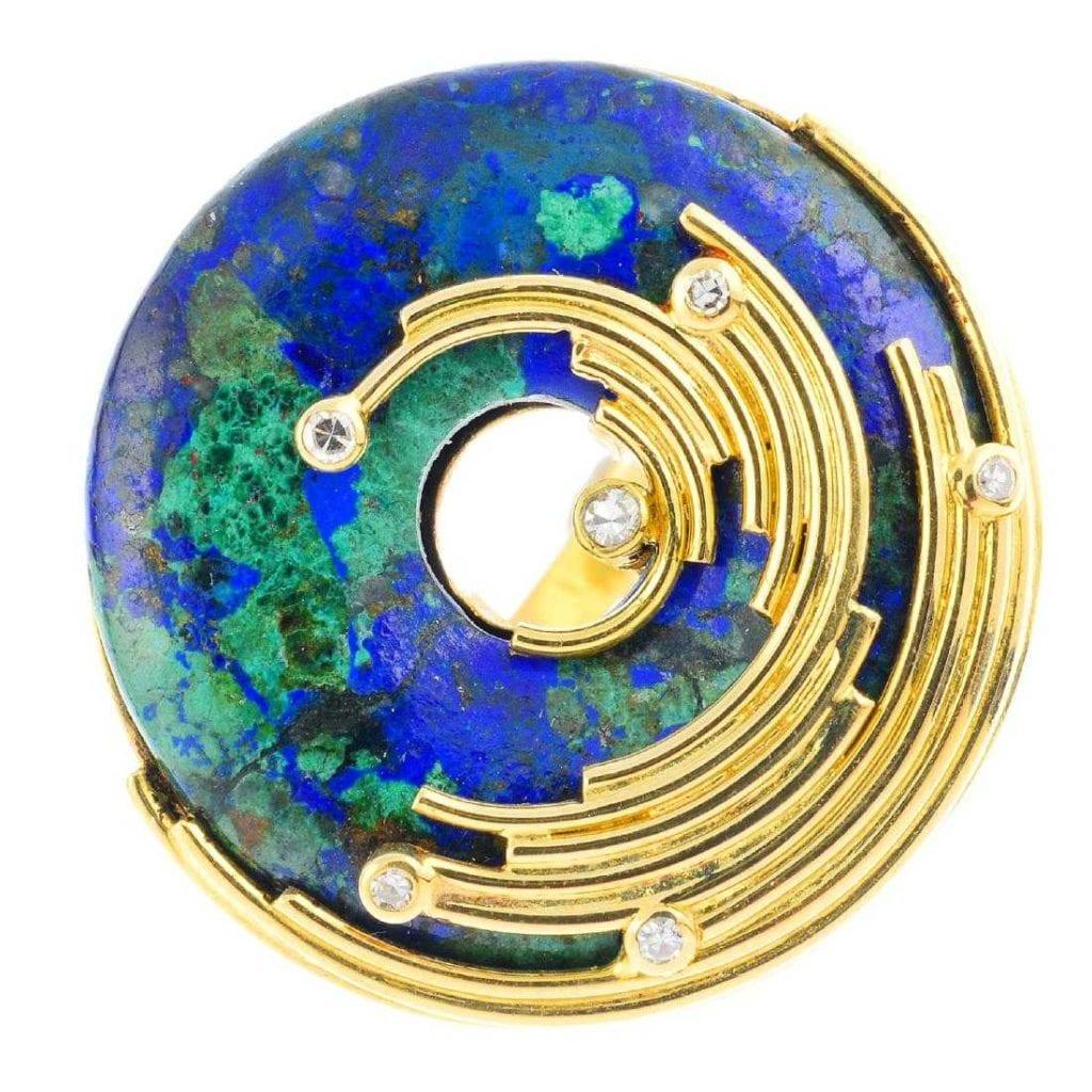 azurite ring