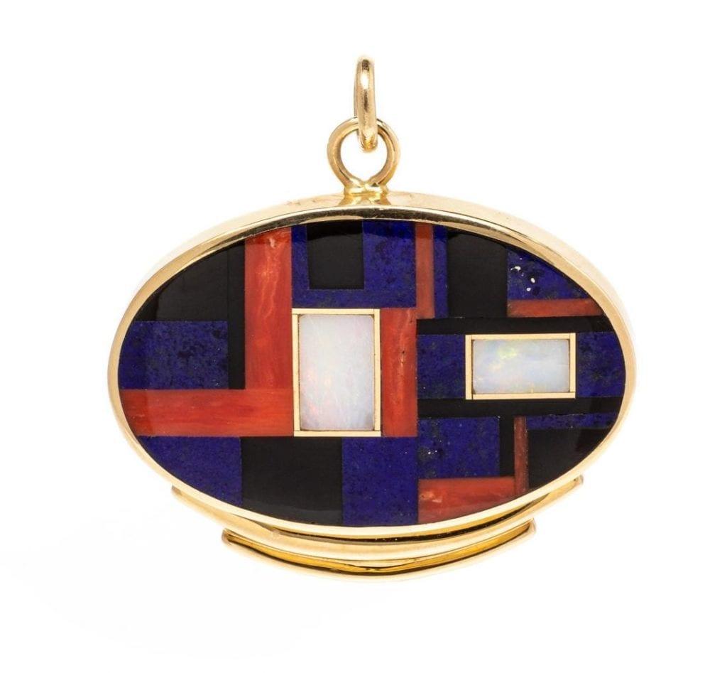 inlaid pendant