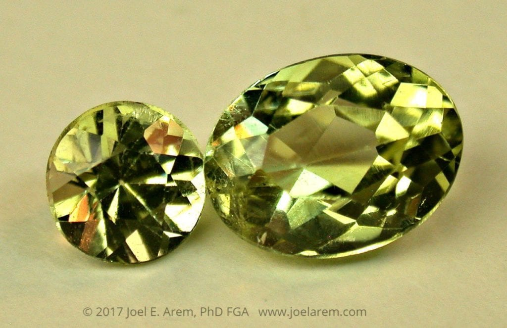 Cut brazilianites - 0.78 and 2.00 cts