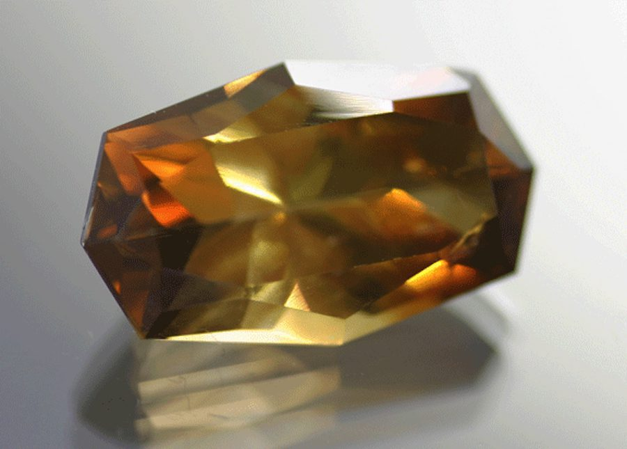 cushion-cut barite - South Dakota