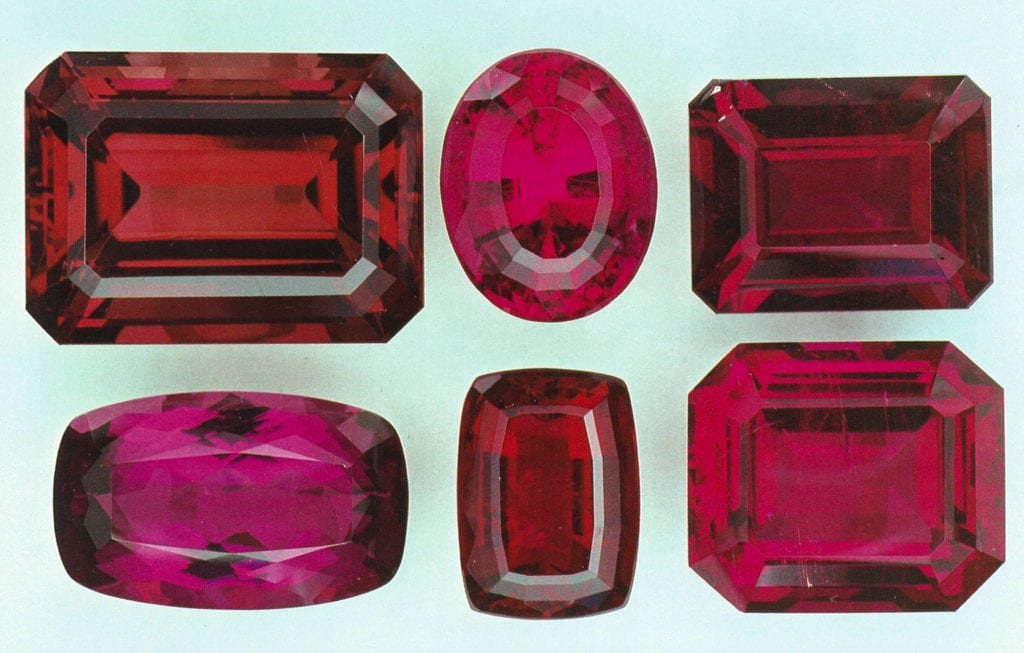 Faceted Rubellite - Madagascar and Brazil