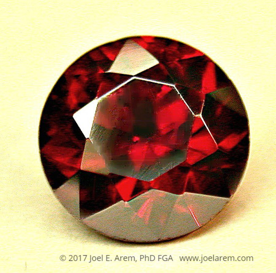 faceted proustite - 2.58 cts