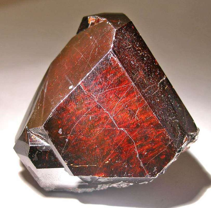 rutile crystal under strong lighting - Georgia