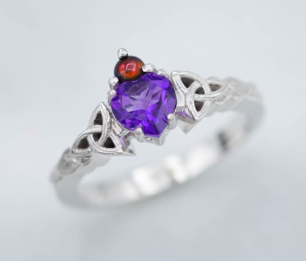 claddagh amethyst and opal ring - amethyst symbolism