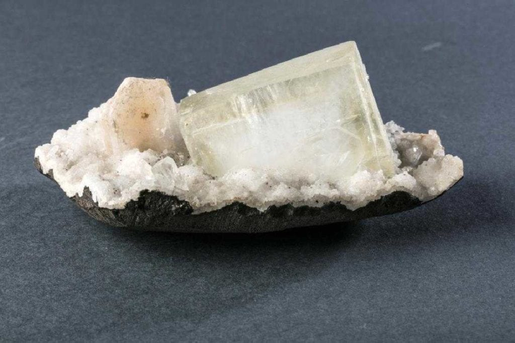 Apophyllite crystal with phantom - India