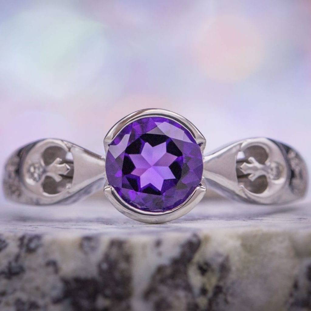 Rebel Alliance amethyst ring - amethyst symbolism