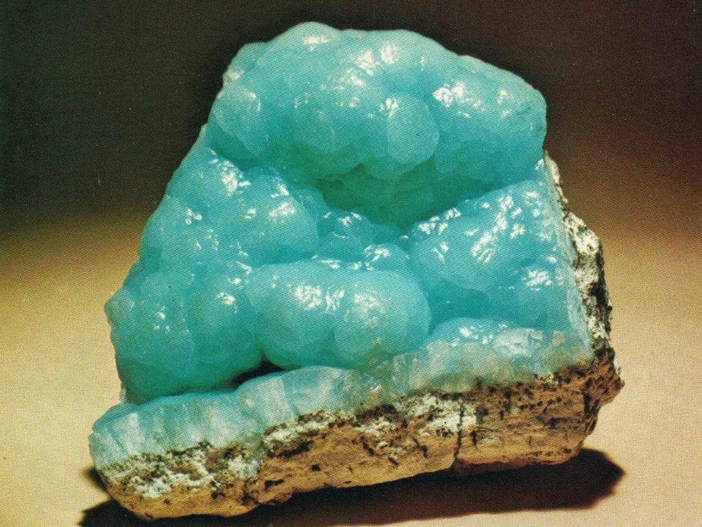 Hemimorphite crystal - Zacatecas, Mexico