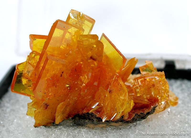 wulfenite crystals on mimetite - Mexico