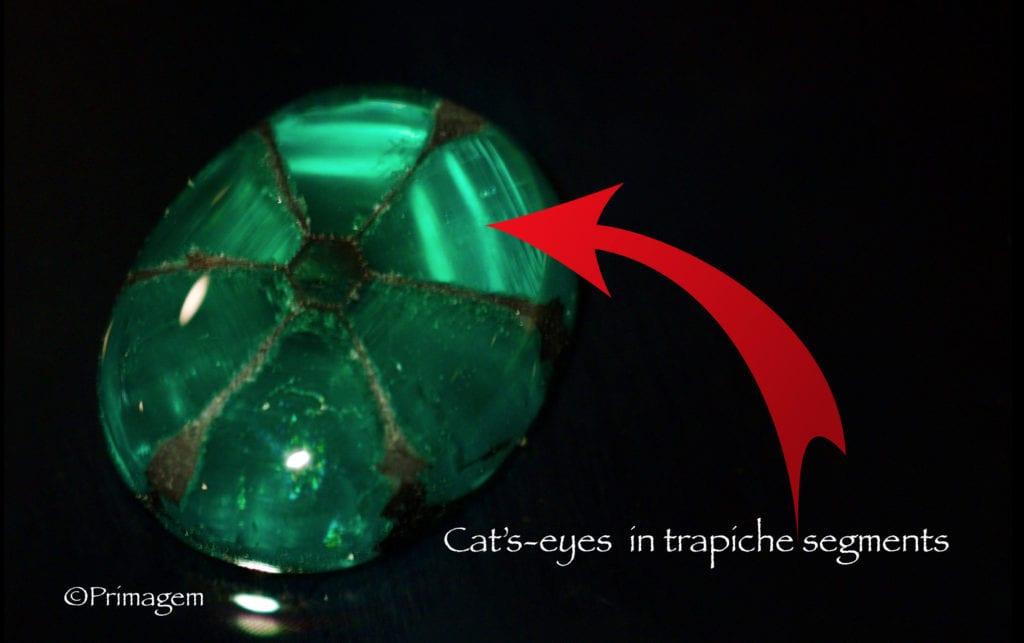 trapiche emerald - cat's eye