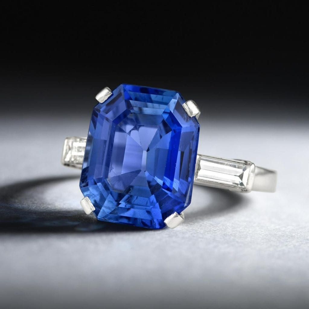 sapphire and diamond ring - Sri Lanka