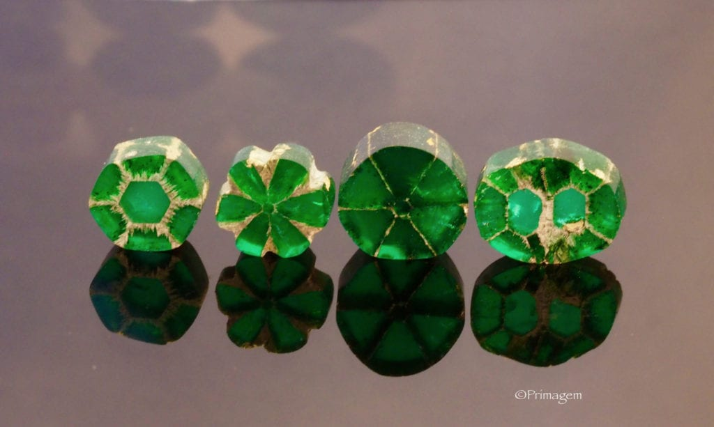 Wilma Van Der Giessen Collection - trapiche emeralds