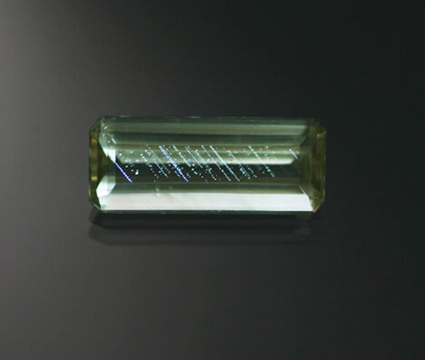 step-cut apatite 3 - gem grading