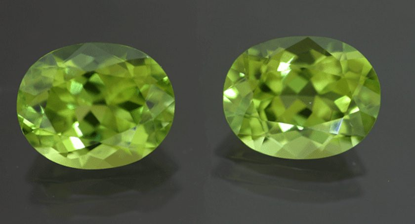 matched peridots - Pakistan
