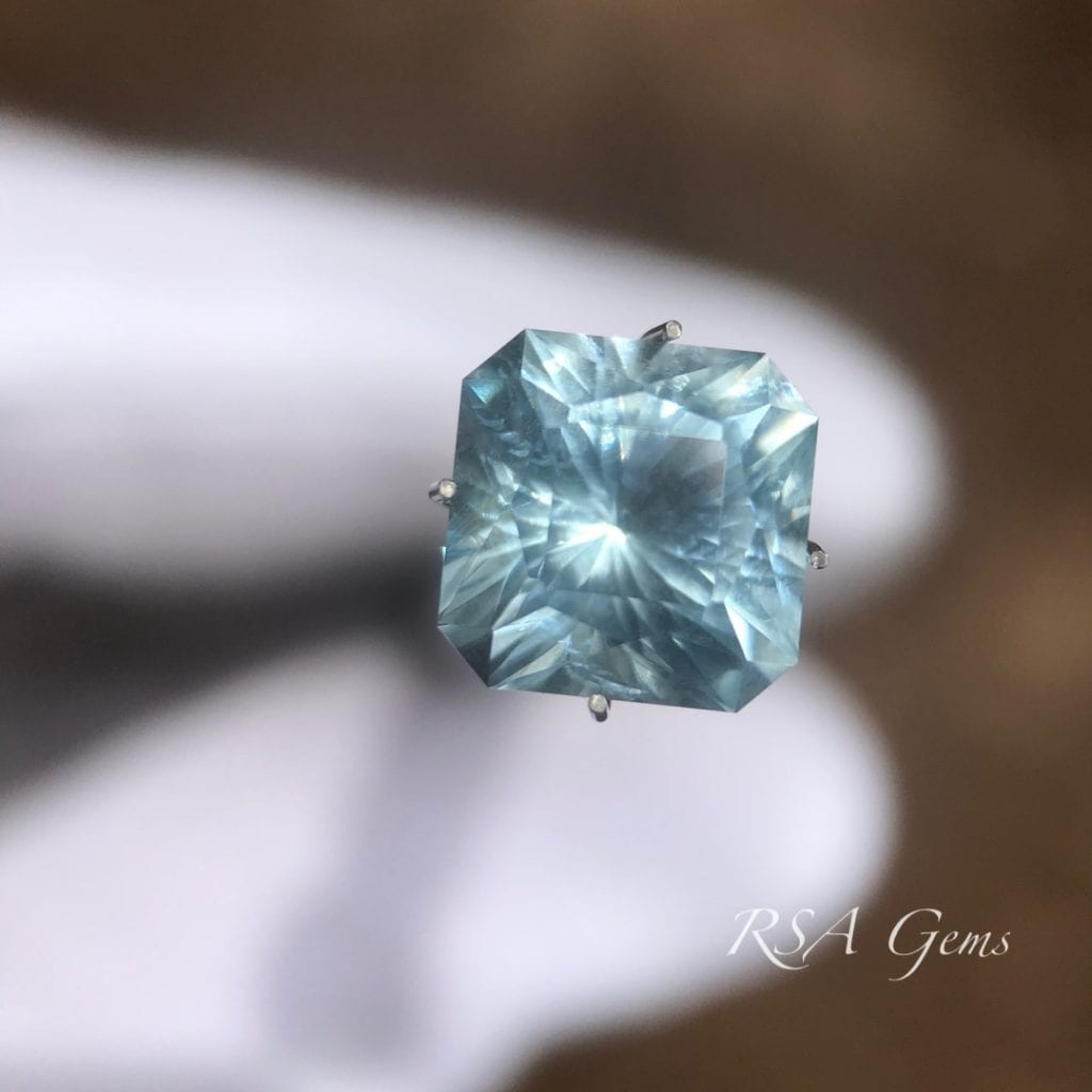 square-cut aquamarine - gem grading