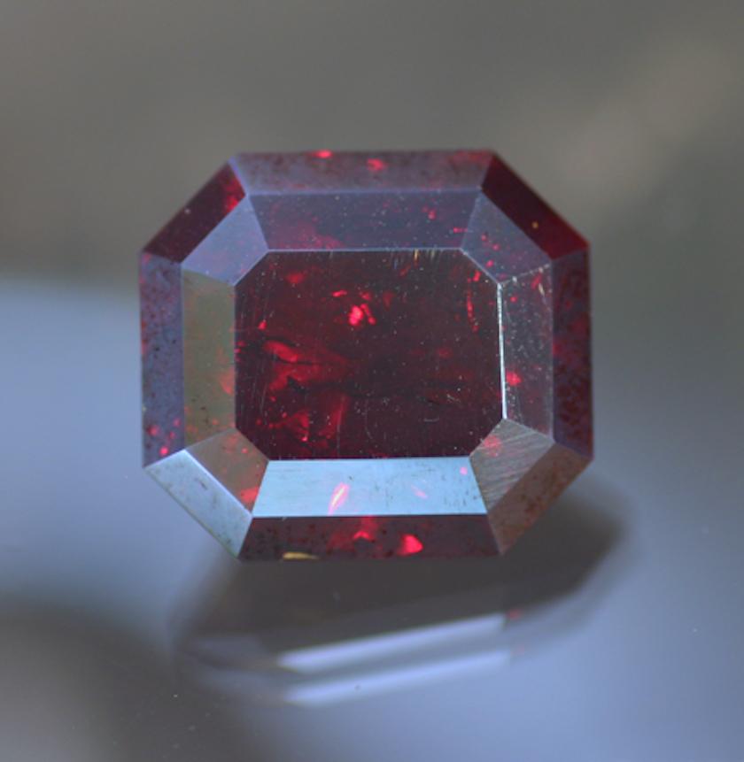 step-cut cuprite - idiochromatic gems