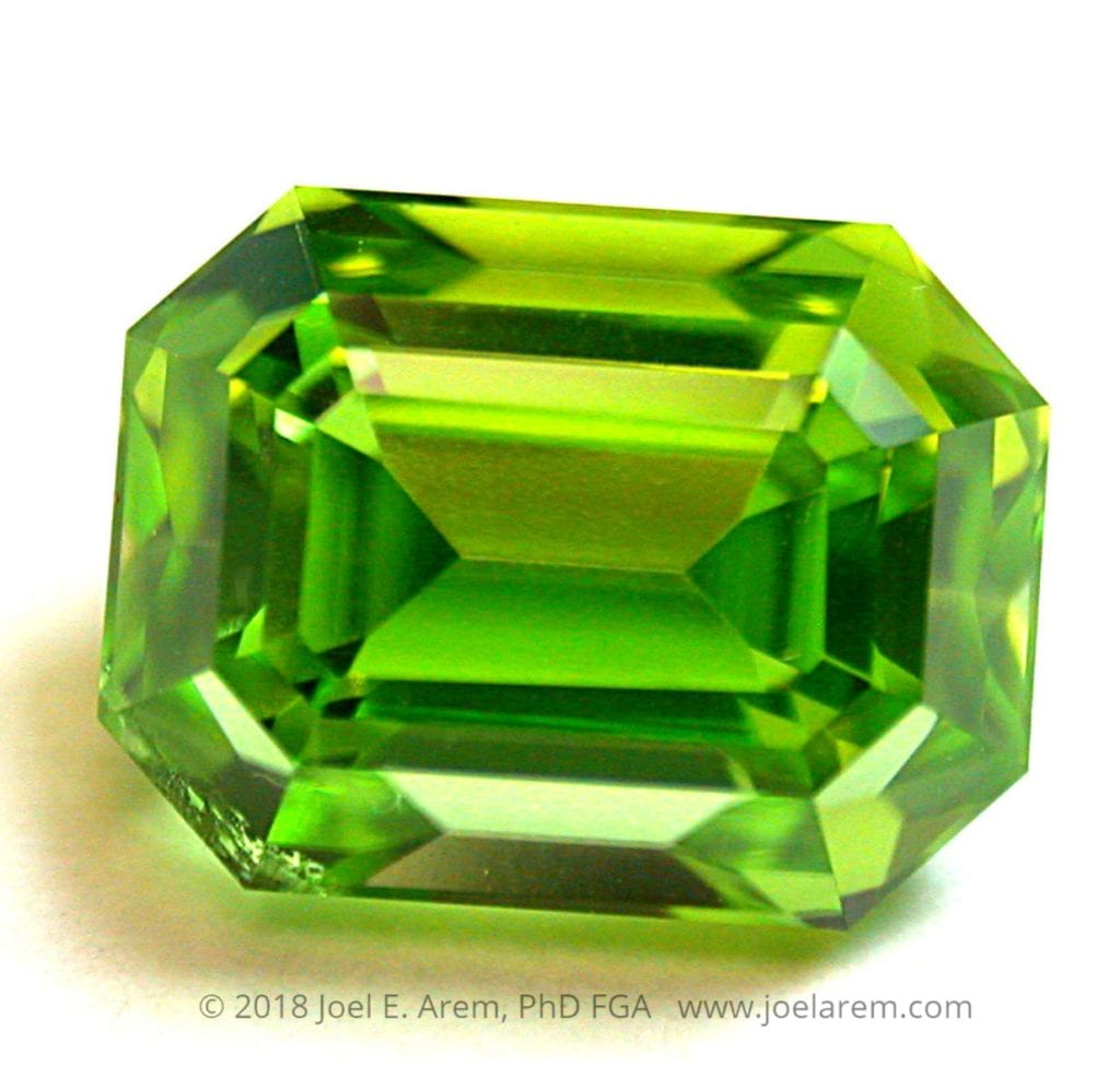 emerald-cut peridot - Norway