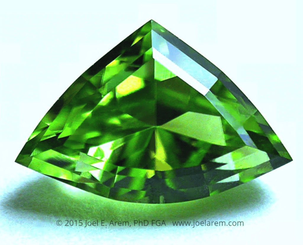 shield-cut peridot - Tanzania
