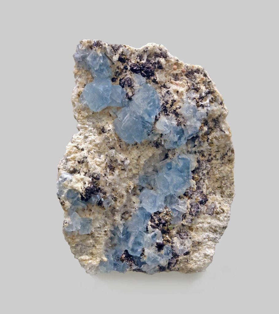 Fluorite with sphalerite and pyrite, Sweet Home Mine, Colorado