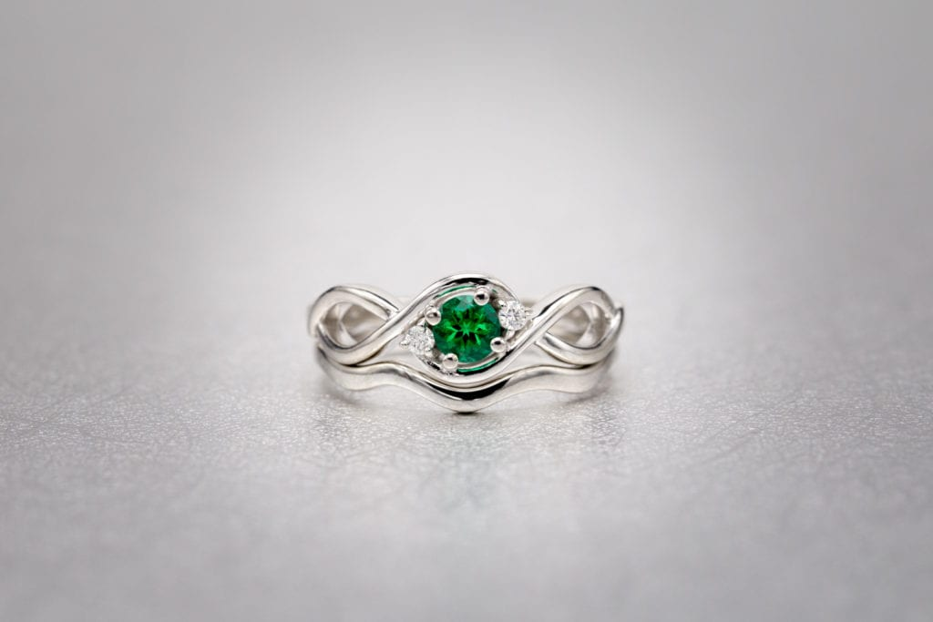 brilliant-cut synthetic emerald ring - emerald buying guide